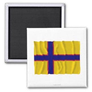 Bandera que agita de Ingermanland Imanes De Nevera