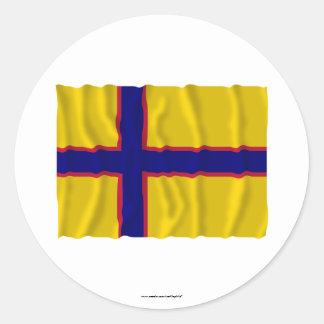 Bandera que agita de Ingermanland Etiquetas Redondas