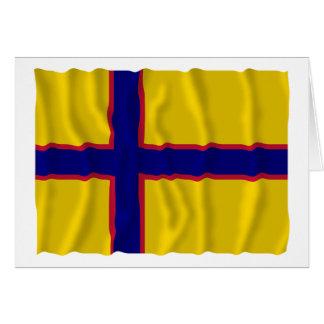 Bandera que agita de Ingermanland Felicitacion