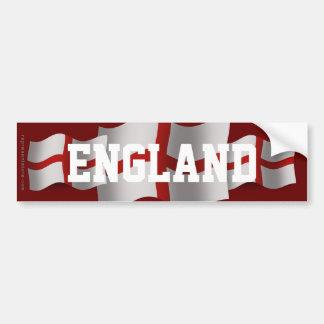 Bandera que agita de Inglaterra Pegatina De Parachoque