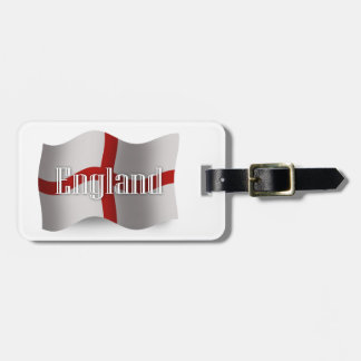 Bandera que agita de Inglaterra Etiqueta Para Equipaje