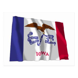 Bandera que agita de Iowa Tarjeta Postal