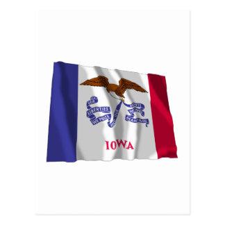 Bandera que agita de Iowa Postal