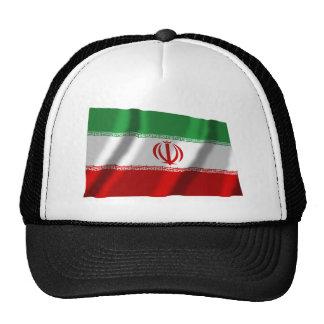 Bandera que agita de Irán Gorro