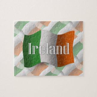 Bandera que agita de Irlanda Puzzle Con Fotos