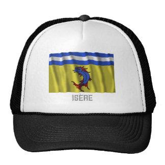 Bandera que agita de Isère con nombre Gorras