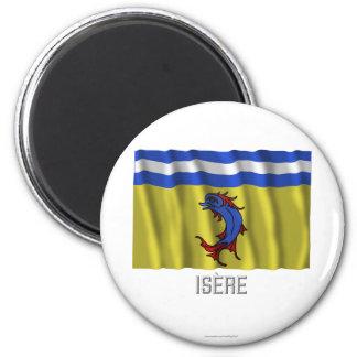 Bandera que agita de Isère con nombre Iman Para Frigorífico