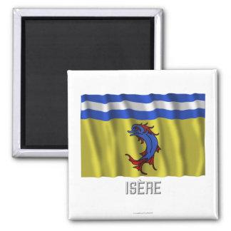 Bandera que agita de Isère con nombre Imán De Frigorífico