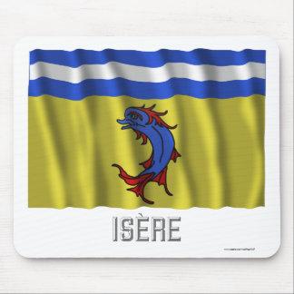 Bandera que agita de Isère con nombre Tapete De Ratón