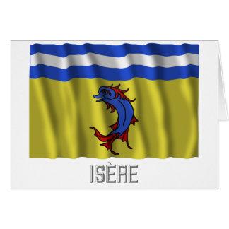 Bandera que agita de Isère con nombre Felicitación