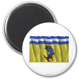 Bandera que agita de Isère Imanes Para Frigoríficos
