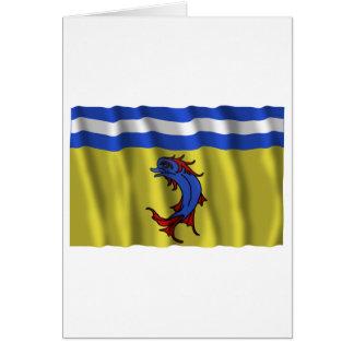 Bandera que agita de Isère Tarjeton
