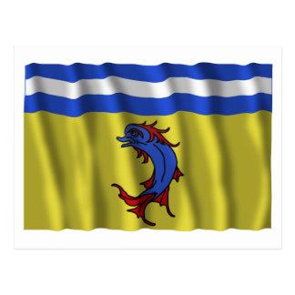 Bandera que agita de Isère Postales