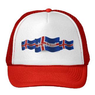 Bandera que agita de Islandia Gorra