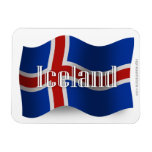 Bandera que agita de Islandia Iman Rectangular