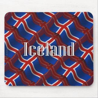 Bandera que agita de Islandia Alfombrillas De Ratones