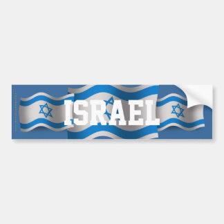 Bandera que agita de Israel Pegatina Para Auto