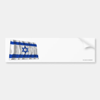 Bandera que agita de Israel Pegatina De Parachoque
