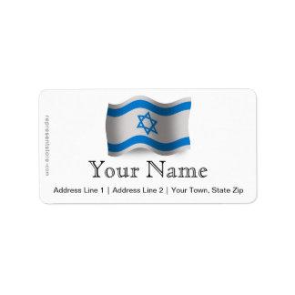Bandera que agita de Israel Etiquetas De Dirección