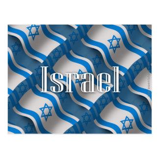 Bandera que agita de Israel Tarjetas Postales