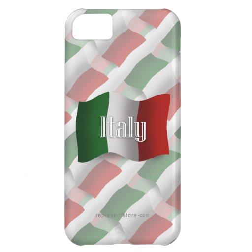 Bandera que agita de Italia Funda iPhone 5C