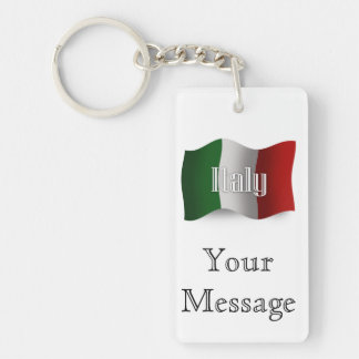 Bandera que agita de Italia Llaveros