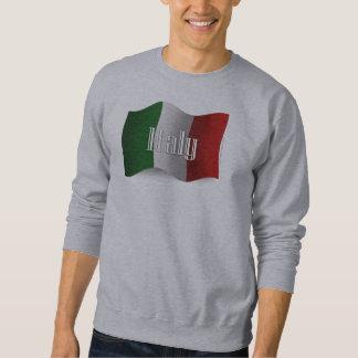Bandera que agita de Italia Pulóvers Sudaderas