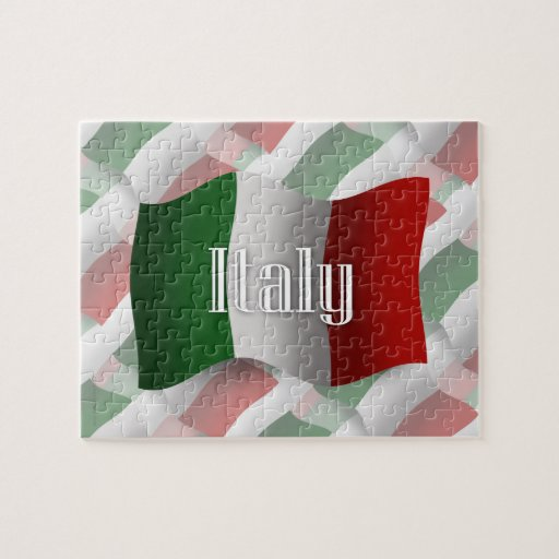 Bandera que agita de Italia Rompecabeza