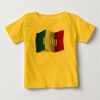Bandera que agita de Italia Remera