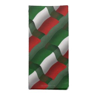 Bandera que agita de Italia Servilletas Imprimidas