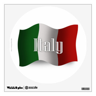 Bandera que agita de Italia Vinilo Adhesivo