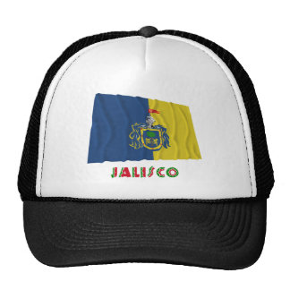 Bandera que agita de Jalisco Gorras