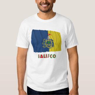Bandera que agita de Jalisco Remera