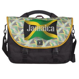 Bandera que agita de Jamaica Bolsas Para Ordenador
