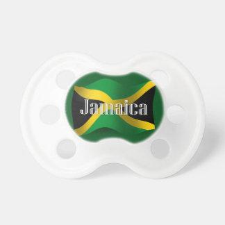 Bandera que agita de Jamaica Chupetes De Bebé