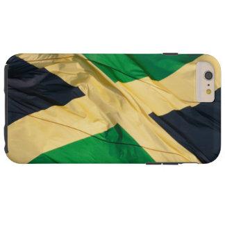 Bandera que agita de Jamaica Funda De iPhone 6 Plus Tough