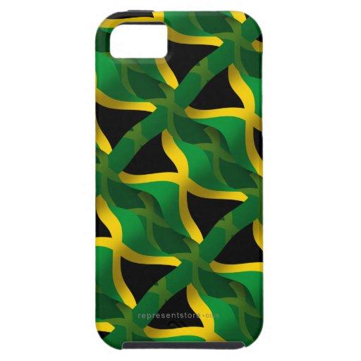 Bandera que agita de Jamaica iPhone 5 Funda