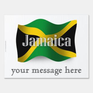 Bandera que agita de Jamaica Letrero