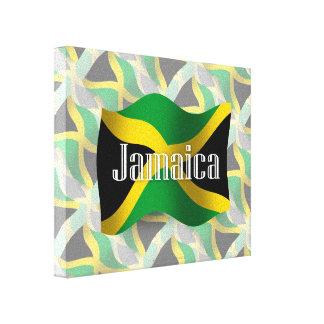 Bandera que agita de Jamaica Impresion En Lona