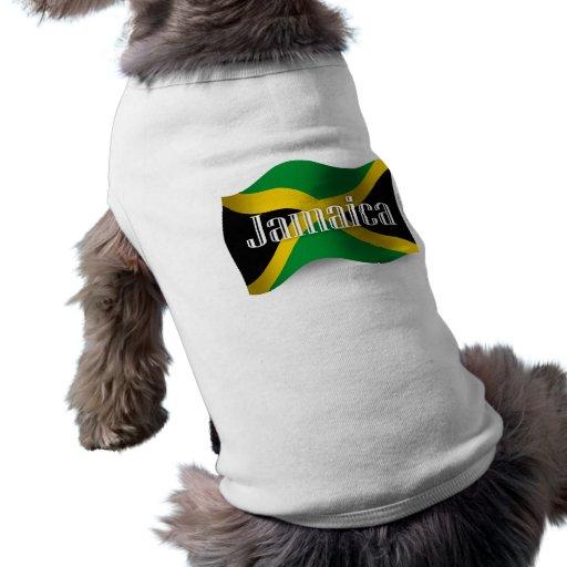 Bandera que agita de Jamaica Playera Sin Mangas Para Perro