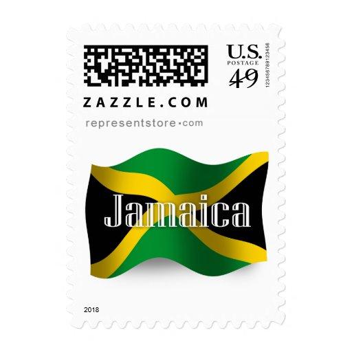 Bandera que agita de Jamaica Sellos