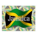 Bandera que agita de Jamaica Tarjeta Postal