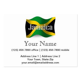 Bandera que agita de Jamaica Tarjetas De Visita Grandes