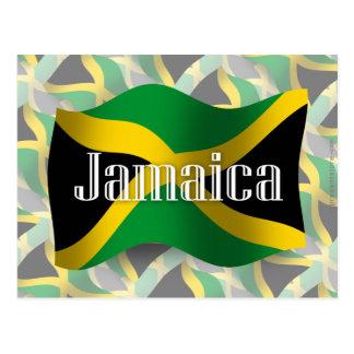 Bandera que agita de Jamaica Tarjetas Postales