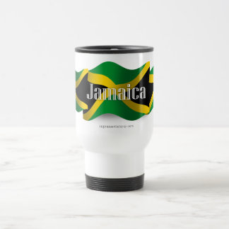 Bandera que agita de Jamaica Taza De Viaje De Acero Inoxidable