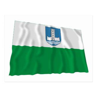 Bandera que agita de Järva Tarjeta Postal