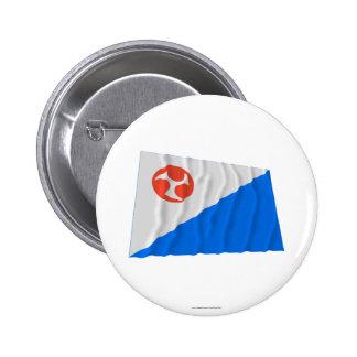 Bandera que agita de Jeju-Do Pin Redondo 5 Cm