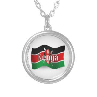 Bandera que agita de Kenia Colgantes