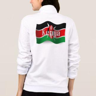 Bandera que agita de Kenia Chaqueta Imprimida