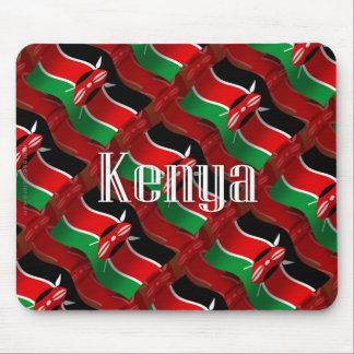 Bandera que agita de Kenia Tapete De Raton
